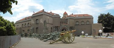 Kalemegdan, military museum. There is a military museum in Kalemegdan fortress. Outside museum are many old cannons exposed stock image