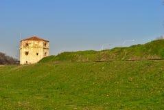 Kalemegdan Park in Belgrade, Serbia - `Nebojsa Kula`. Kalemegdan Park, `Donji Grad` with `Nebojsa Kula` on a sunny winter`s day stock image