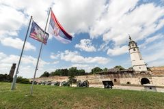 Kalemegdan Park and the Fortress in Belgrade. Serbia Royalty Free Stock Image