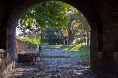Kalemegdan park from a fortress gate Royalty Free Stock Photo