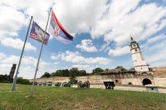 Kalemegdan-Park und die Festung in Belgrad Lizenzfreies Stockbild
