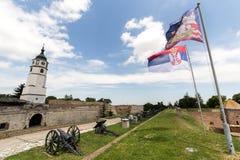 Kalemegdan-Park und die Festung in Belgrad Stockfotos