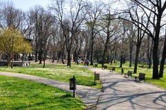 Kalemegdan parkerar, Belgrade, Serbien Arkivbilder