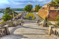 Kalemegdan stairs Royalty Free Stock Photography