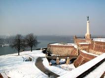 kalemegdan vinter Arkivfoto