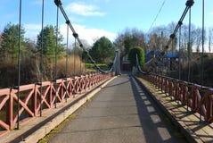 Kalemouth suspension bridge. Kalemouth bridge over river Teviot Stock Image