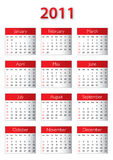 Kalendar 2011 Royalty Free Stock Images