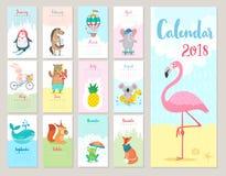 Kalendarz 2018 royalty ilustracja