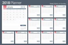2018 kalendarz Obrazy Stock