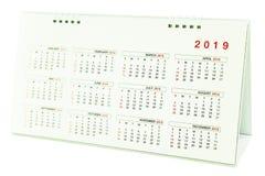 Kalendarz 2019 Zdjęcia Stock