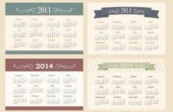 Kalendarz 2014 Fotografia Stock