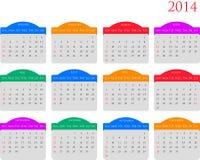 Kalendarz 2014 Royalty Ilustracja
