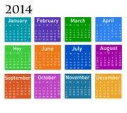 2014 kalendarz Fotografia Royalty Free