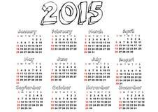2015 kalendarz Obraz Stock
