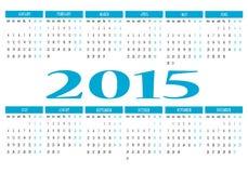 2015 kalendarz Fotografia Stock