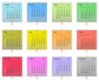 2015 kalendarz Obrazy Royalty Free