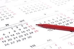 kalendarz Zdjęcie Royalty Free