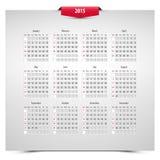 2015 kalendarz Zdjęcia Royalty Free