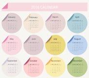 2016 kalendarz Zdjęcie Stock