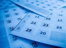 kalendarz Obrazy Stock