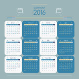 Kalendarz 2016 Zdjęcia Stock