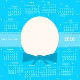 Kalendarz 2016 Obrazy Royalty Free