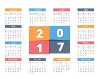 2017 kalendarz Zdjęcia Stock