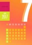 2017 kalendarz Obrazy Royalty Free