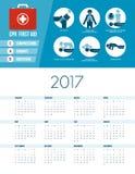 Kalendarz 2017 Obraz Royalty Free