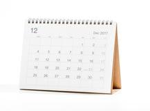 Kalendarz 2017 Zdjęcie Royalty Free