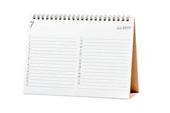 Kalendarz 2017 Obrazy Royalty Free