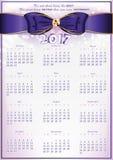Kalendarz 2017 - Angielski printable organizator Fotografia Royalty Free
