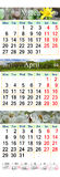 Kalendarz dla Marcowego Kwietnia 2017 z obrazkami i Maja Zdjęcia Stock