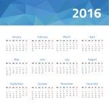Kalendarz dla 2016 rok Zdjęcia Royalty Free