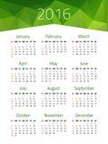 Kalendarz dla 2016 rok Fotografia Stock