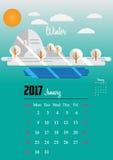 Kalendarz dla 2017 rok Zdjęcia Royalty Free