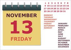 Kalendarz dla roku Fotografia Royalty Free