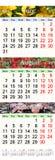 Kalendarz dla Sierpniowego Października 2017 z różnymi barwionymi wizerunkami Obrazy Royalty Free