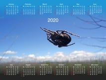 Kalendarz dla 2020 zdjęcie royalty free