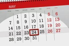 Kalendarz, dzień, miesiąc, biznes, pojęcie, dzienniczek, ostateczny termin, planista, stanu wakacje, stół, kolor ilustracja, 2018 Fotografia Royalty Free