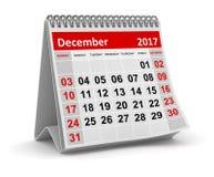 Kalendarz - Grudzień 2017 ilustracji