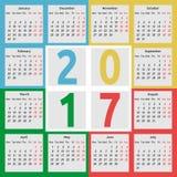 Kalendarz 2017, kolorów sezony Obraz Stock