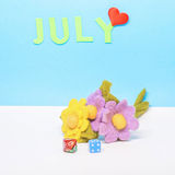 Kalendarz miesiąc Lipiec Fotografia Royalty Free