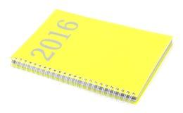 Kalendarz 2016 na białym tle Obraz Stock