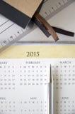 Kalendarz na biurku Zdjęcie Royalty Free