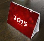 Kalendarz na drewno stole Obrazy Royalty Free