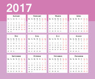 kalendarz Na Poniedziałek tydzień początek Zdjęcia Stock