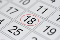 Kalendarz, ocena dzień tygodnia, data w czerwonym okręgu, notatka, scheduler, notatka, save datę, 18 ilustracji