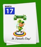 Kalendarz pokazuje 17th Marzec royalty ilustracja