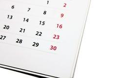 Kalendarz przeciw białemu tłu Zdjęcia Stock
